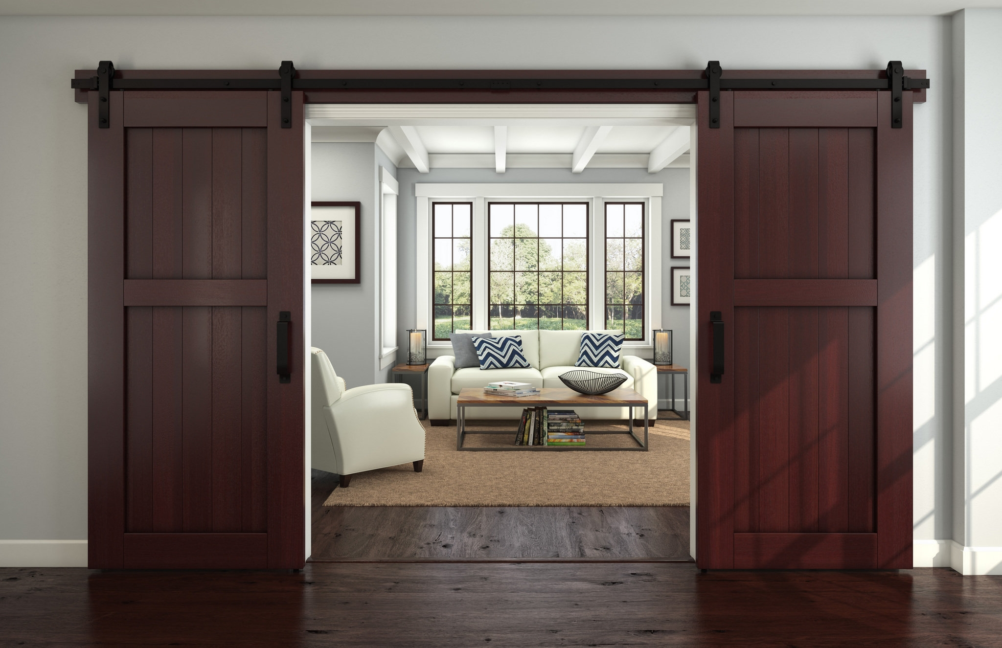 Interior Hanging Sliding Barn Doorsinterior design new ideas for barn doors nj