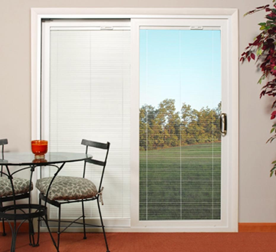 Marvin Sliding Doors With Blinds Insidepatio doors with blinds inside reviews composite white left hand