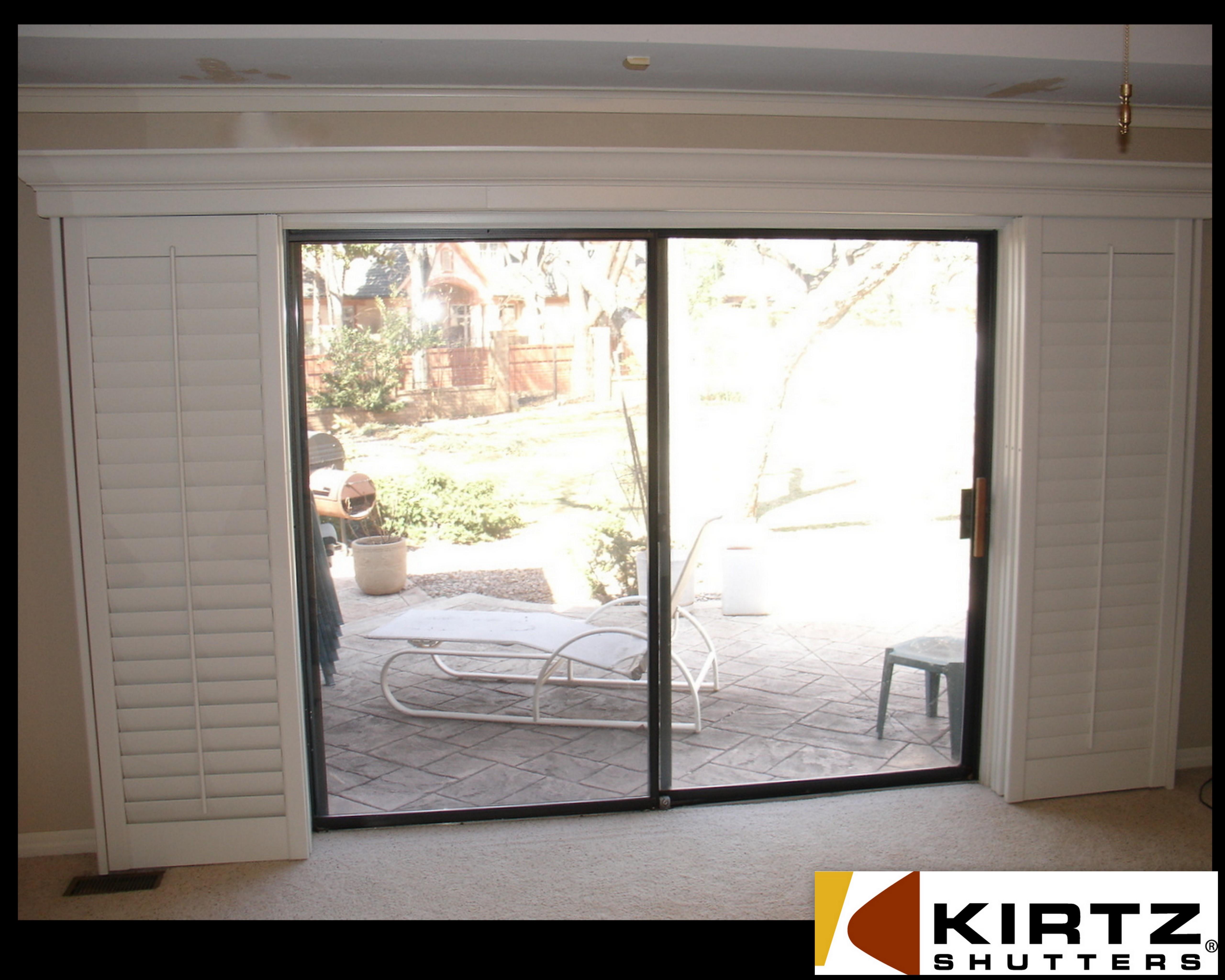 Plantation Shutters Sliding Glass Doors Picturessliding shutters for sliding doors a not so standard installation