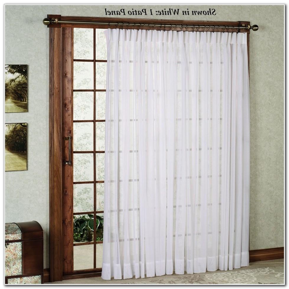 sliding door curtain rod without center bracket sliding doors. Black Bedroom Furniture Sets. Home Design Ideas