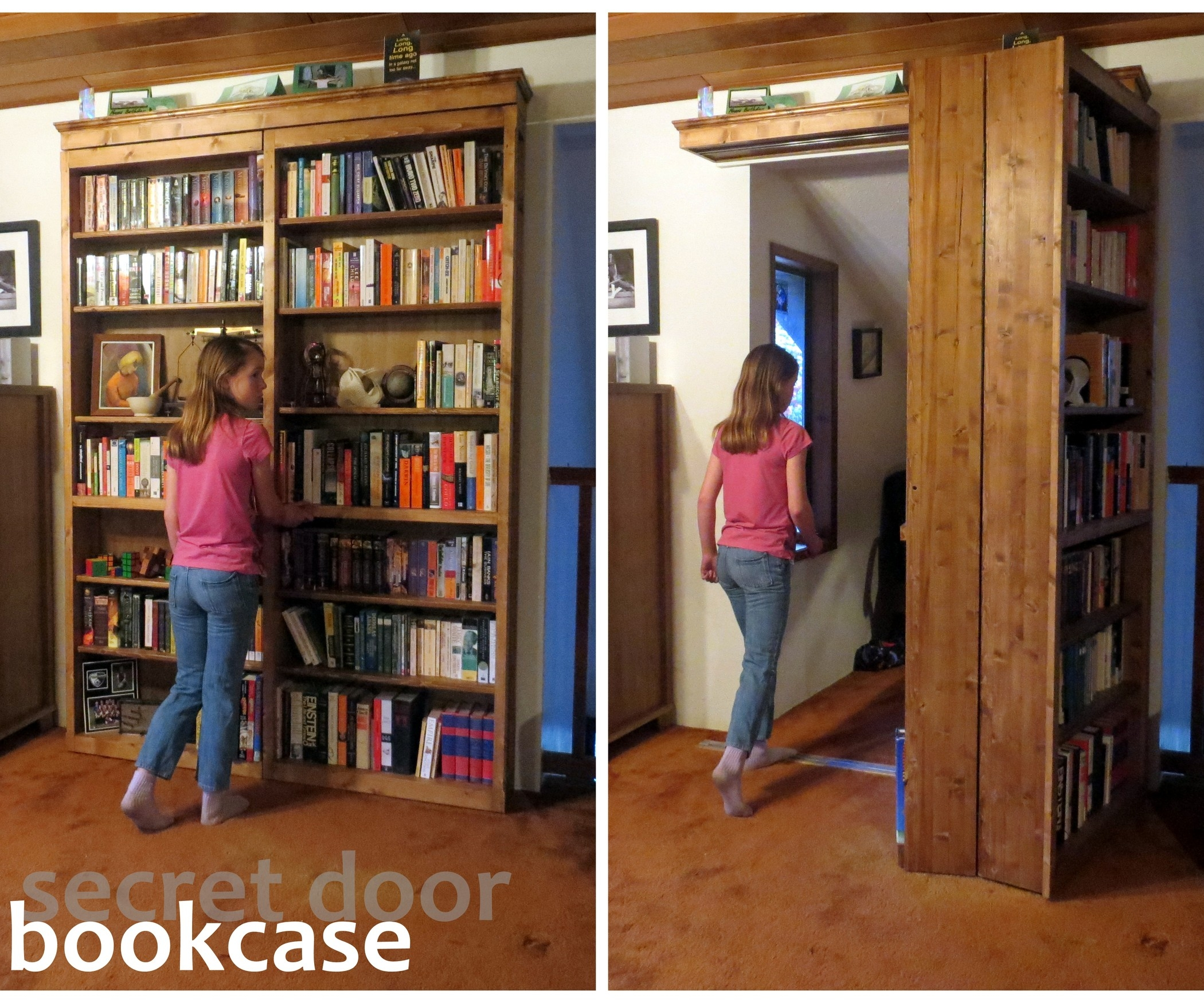 Sliding Secret Bookshelf Door2100 X 1750