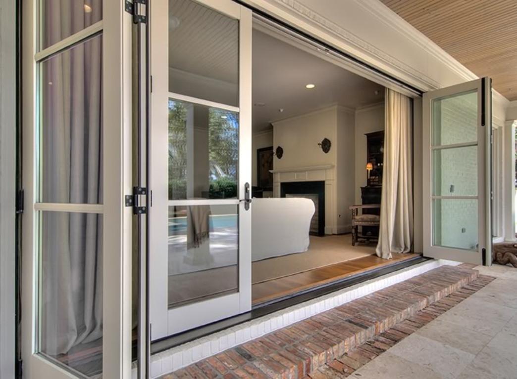 Triple Panel Sliding Patio Doorstriple panel sliding glass doors dors and windows decoration
