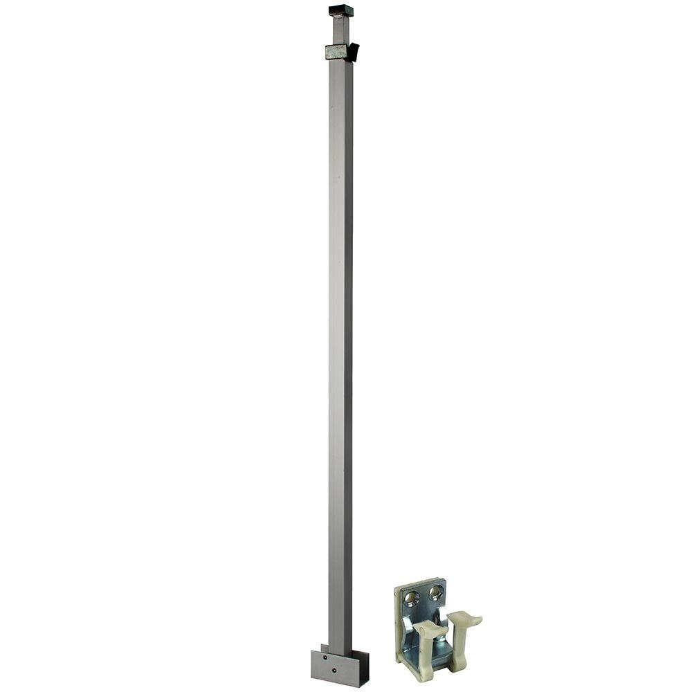 White Telescoping Security Bar Lock For Sliding Glass Doors