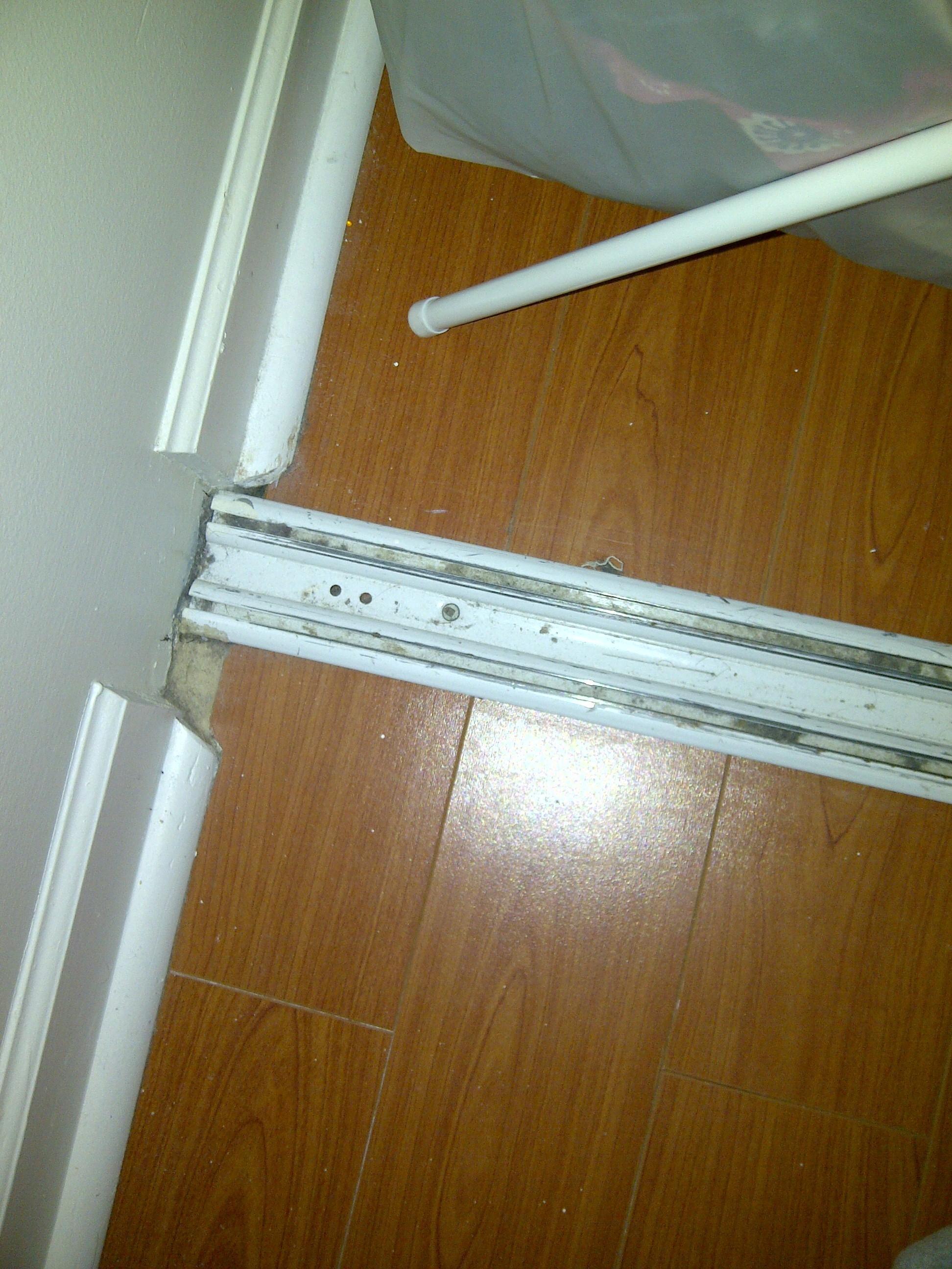 3 Track Door Sliding Closet Doorscloset Door Hardware Floor Guide Guides  Metal Bi Fold Closet Door