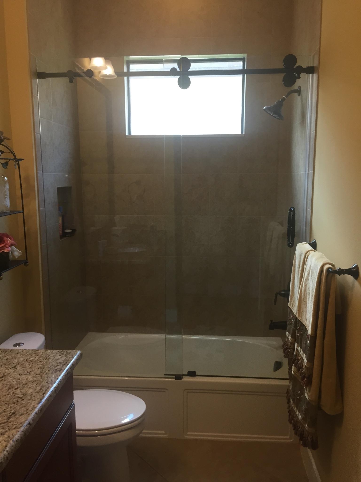 Barn Style Frameless Sliding Glass Shower Door Hardwarebarn style glass shower doors the glass shoppe a division of