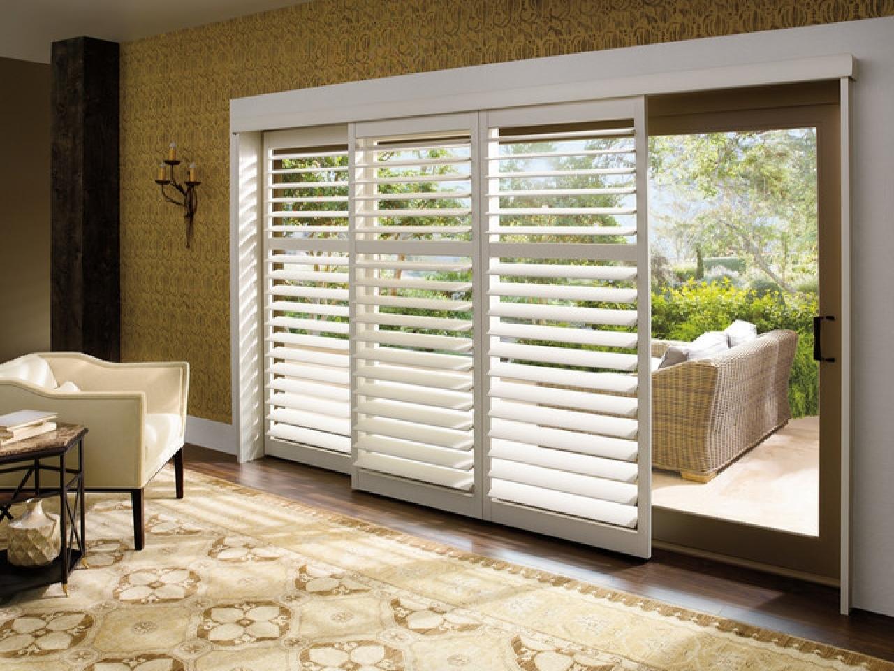 Blind Options For Sliding Glass Doorswindow treatments for sliding glass doors ideas tips
