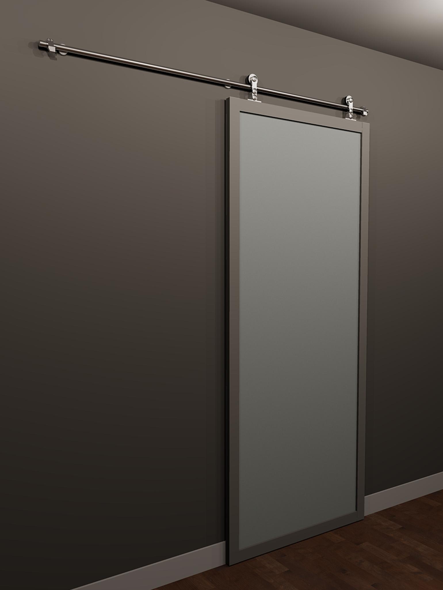 Single Panel Sliding Glass Doorsuspended single panel barn door