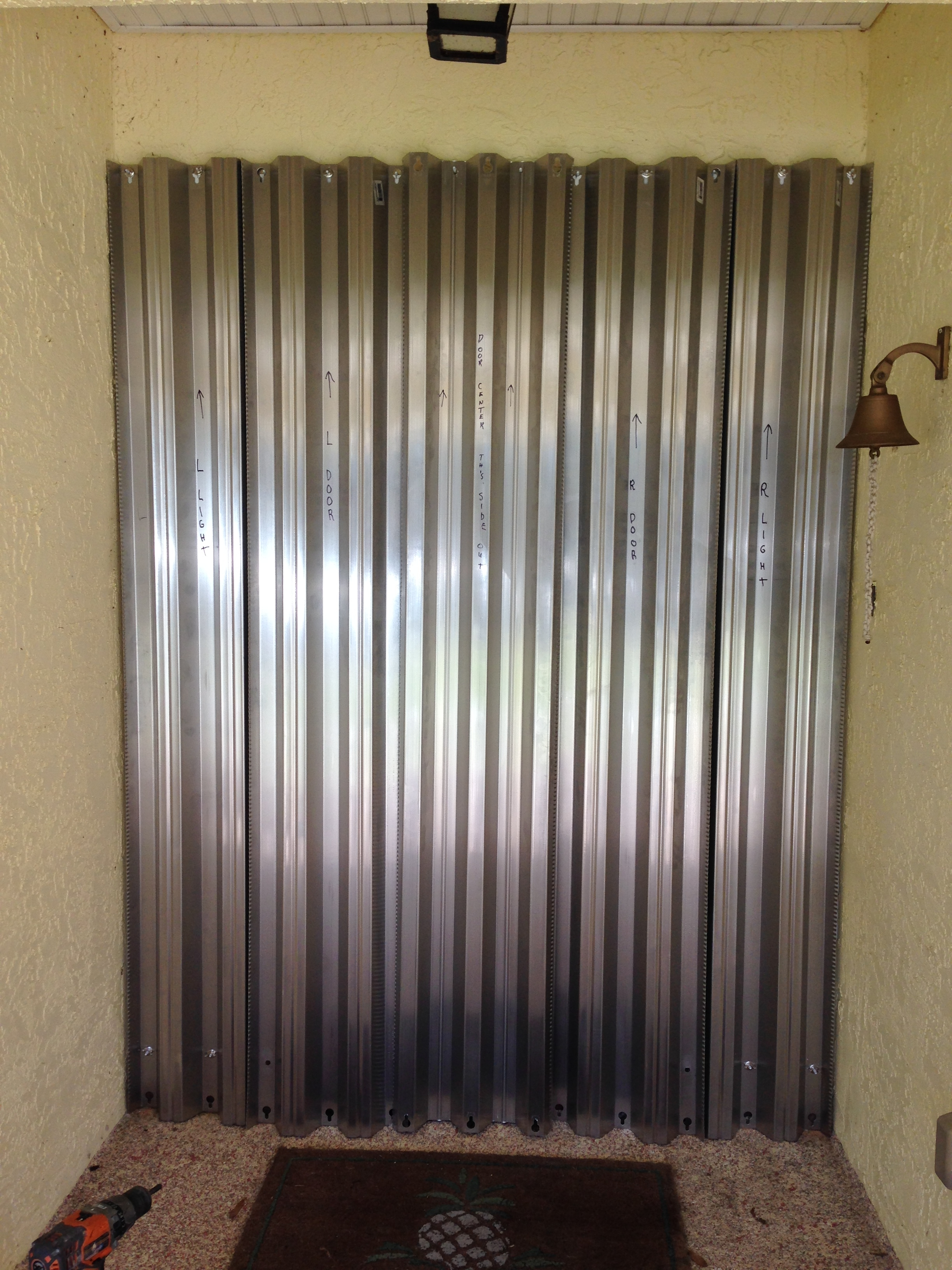 Sliding Security Shutters : Sliding glass door hurricane shutters doors