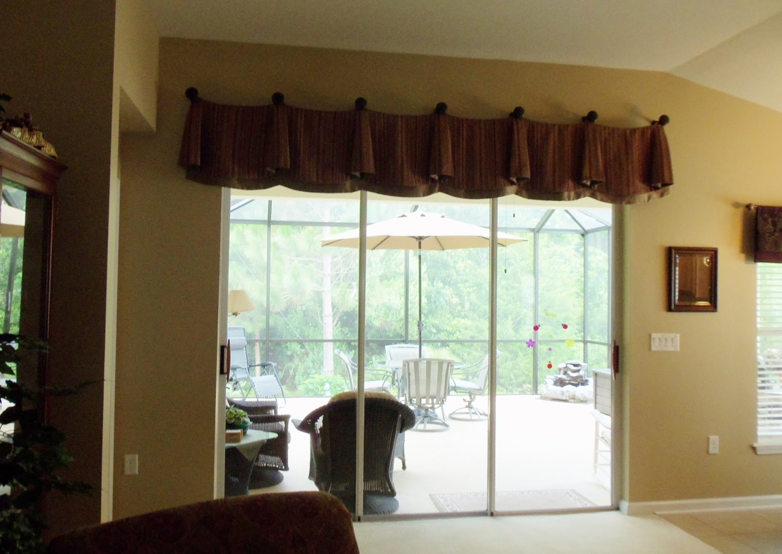 Sliding Patio Door Valancepatio doors patio door valance window treatments for sliding