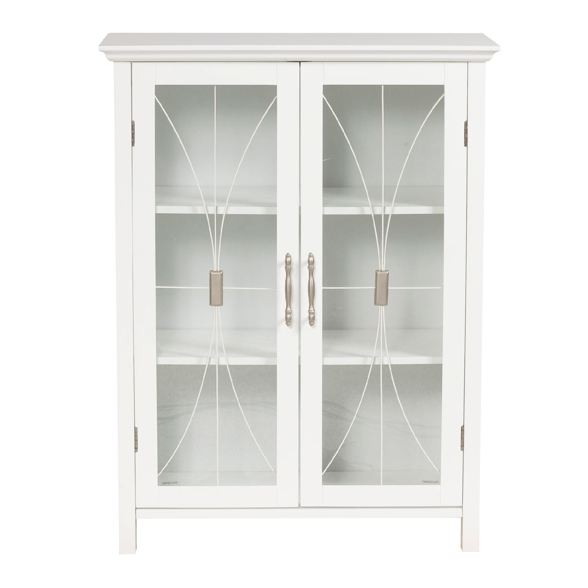 White Wall Storage Cabinet With Sliding Glass Doorswhite storage cabinet with doors decofurnish