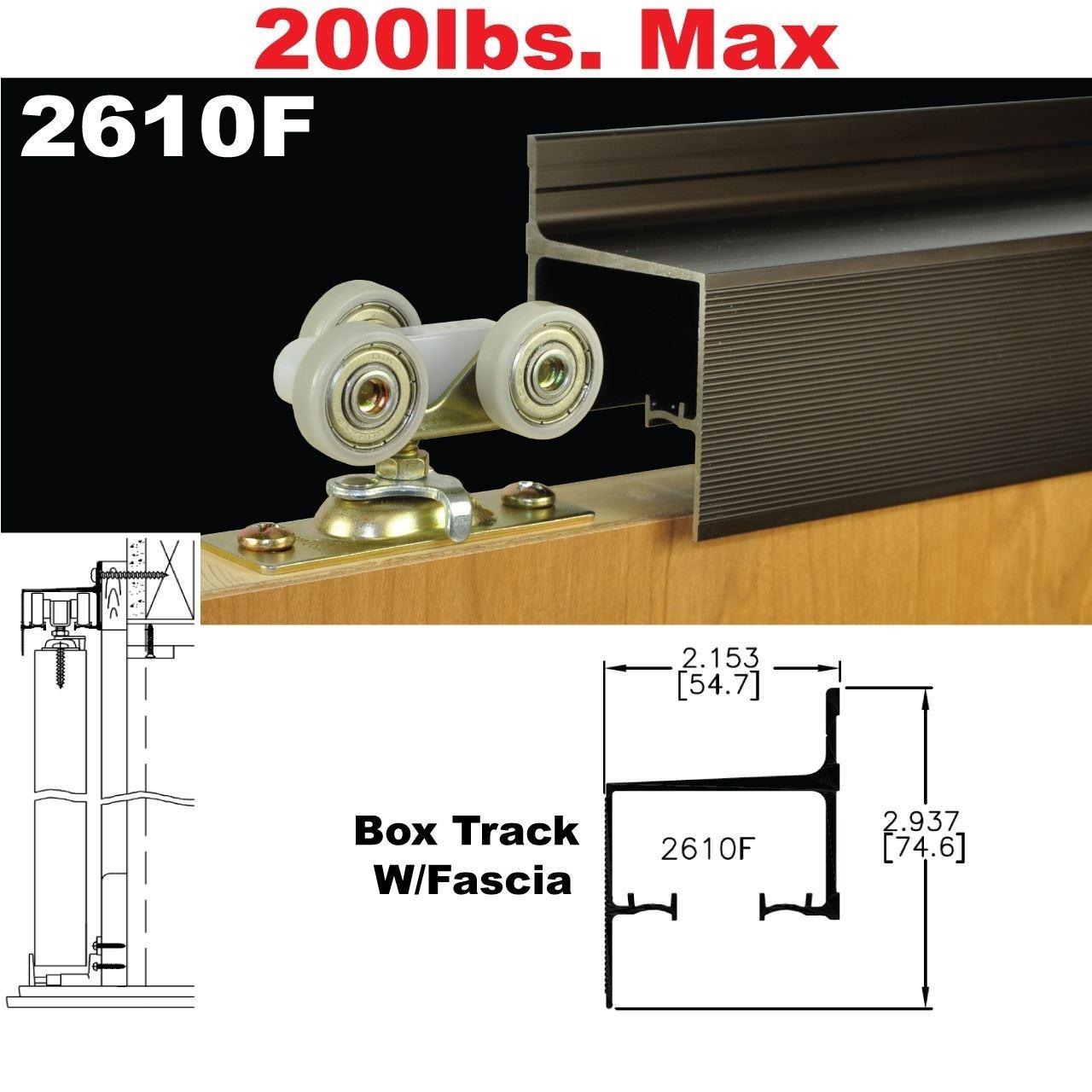 2610 Wall Mount Sliding Pocket Door Hardware Kit1280 X 1280