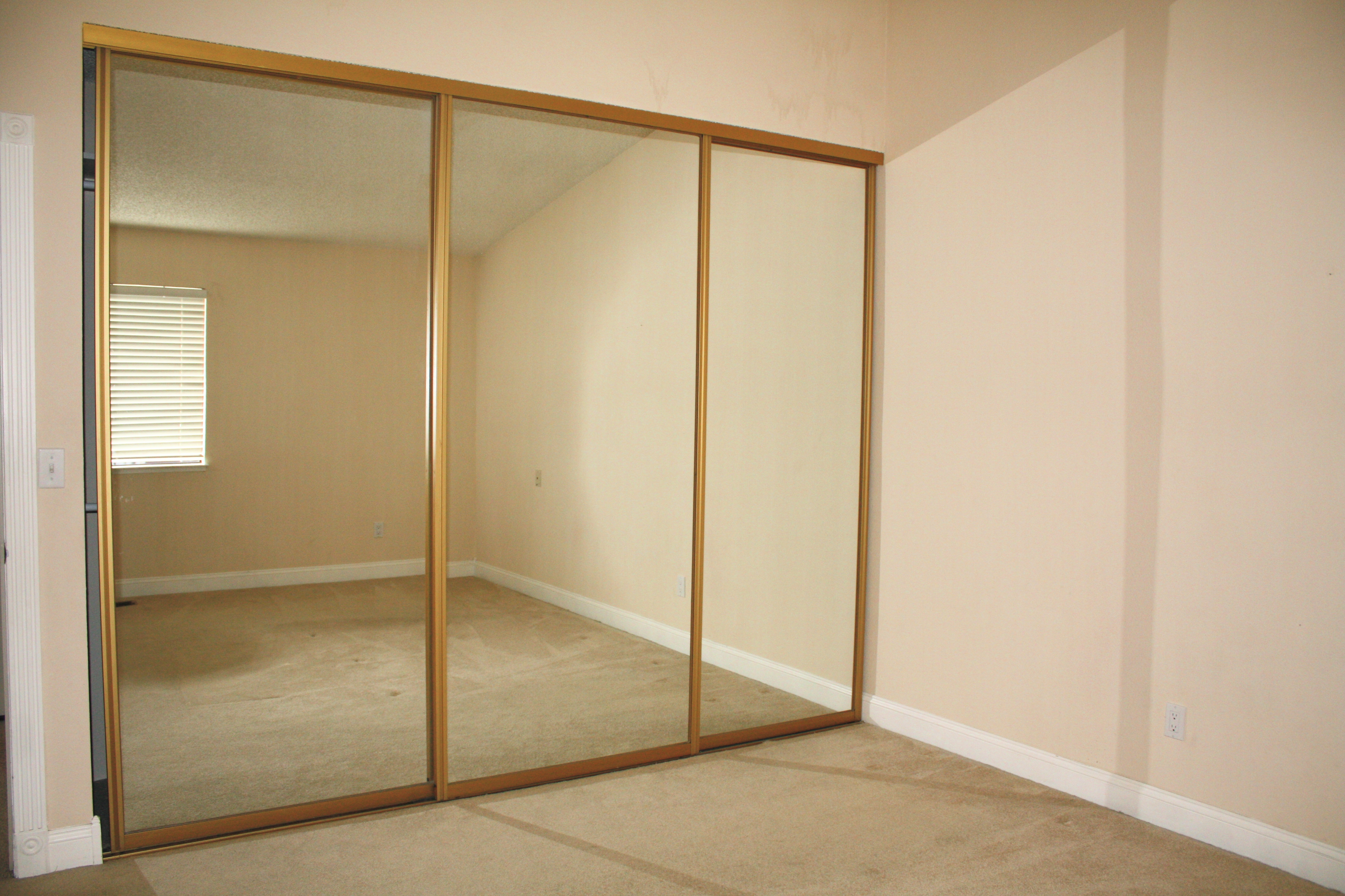 3 Panel Sliding Glass Closet Doors