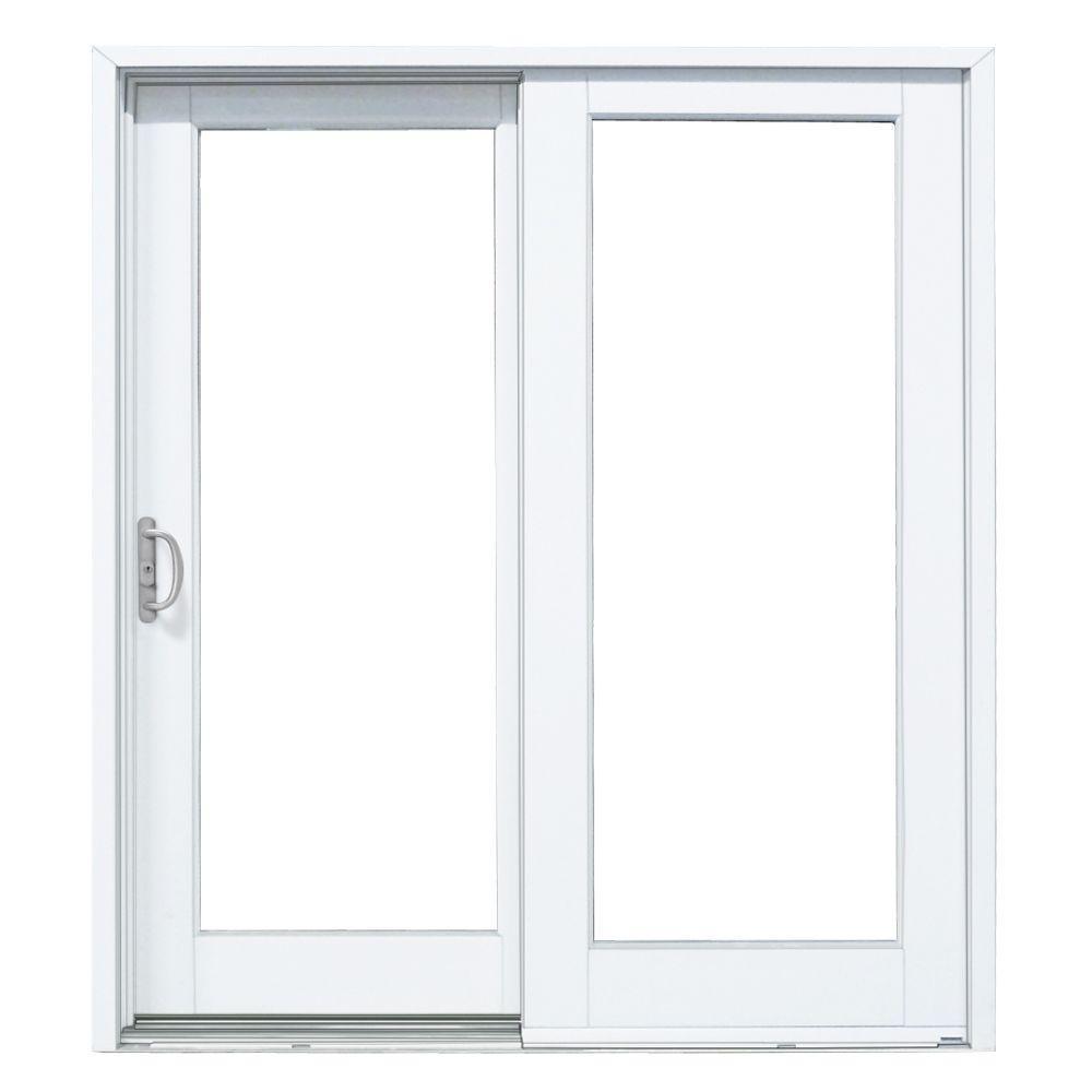 60 X 80 Sliding Patio Doormp doors 60 in x 80 in smooth white left hand composite sliding