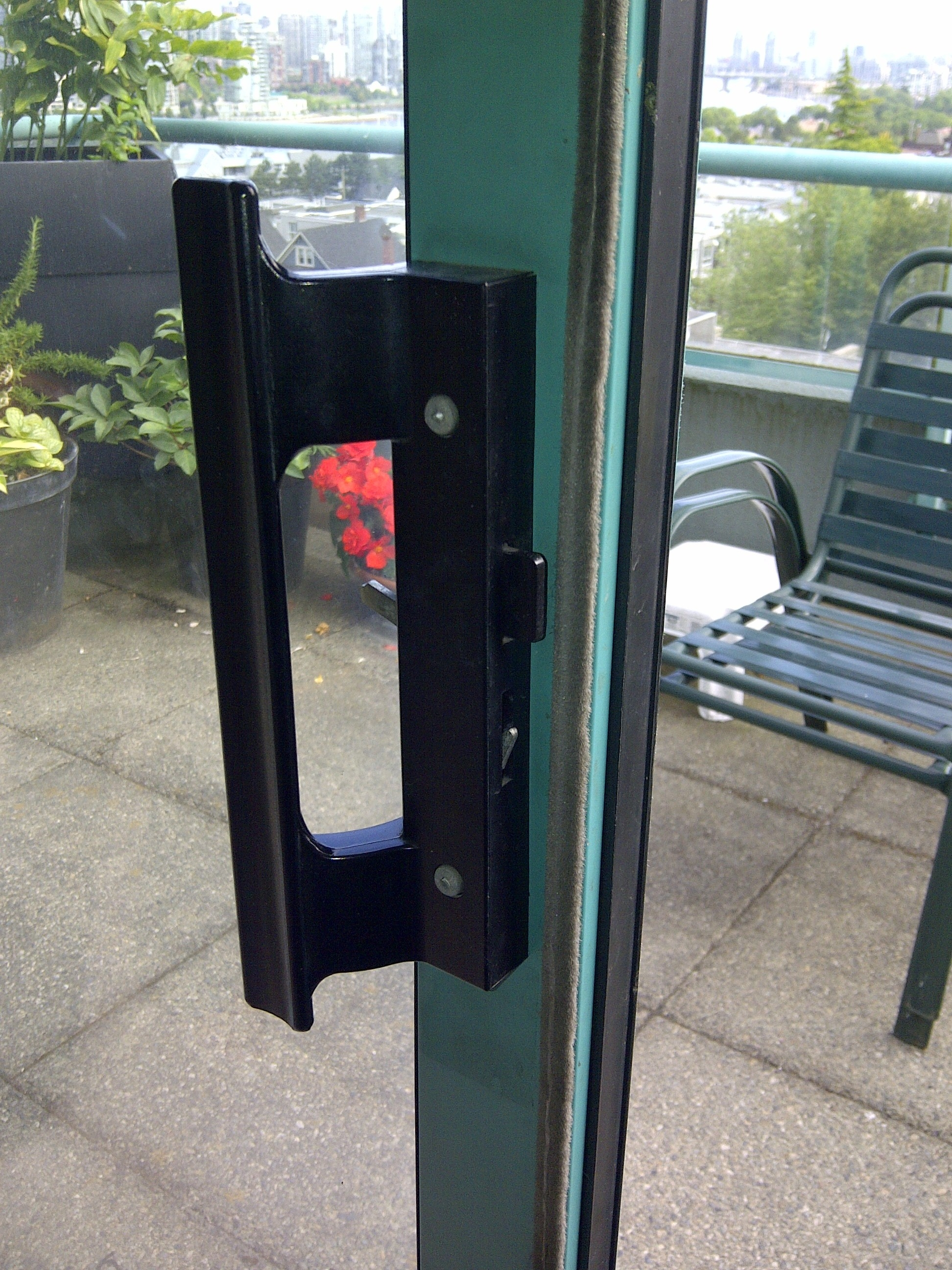 Aluminum Sliding Glass Patio Door Foot Lock Sliding Doors