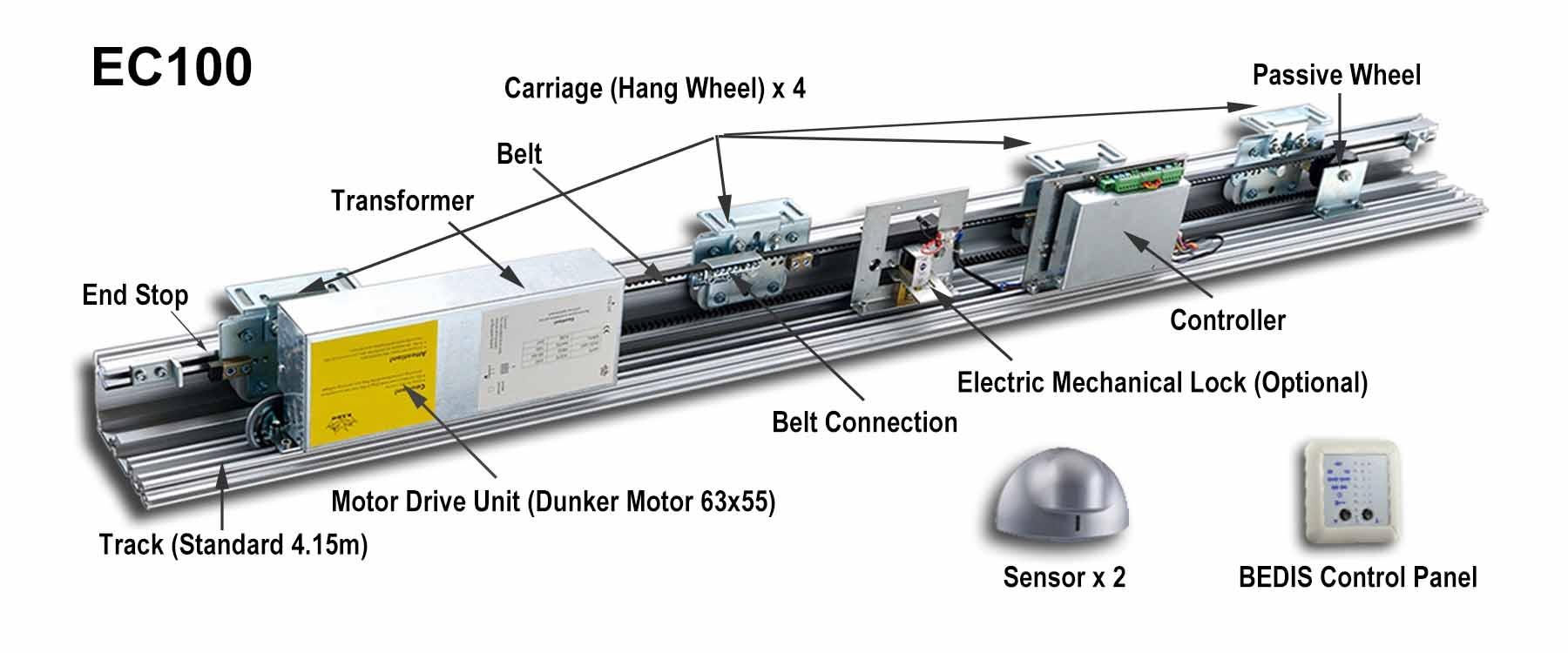 Automatic Sliding Door Sensor1800 X 750