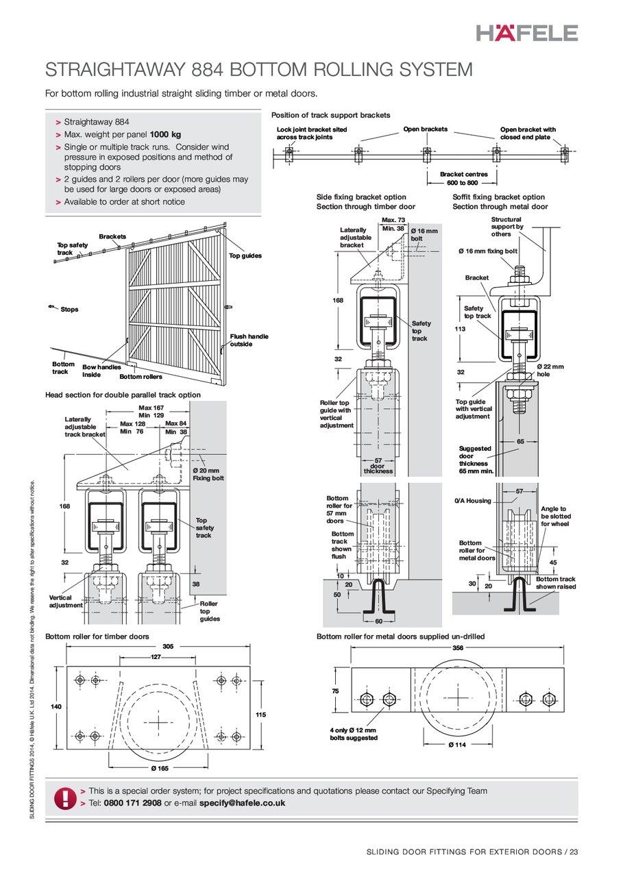 Bottom Roller Sliding Door Systemhousing roller track