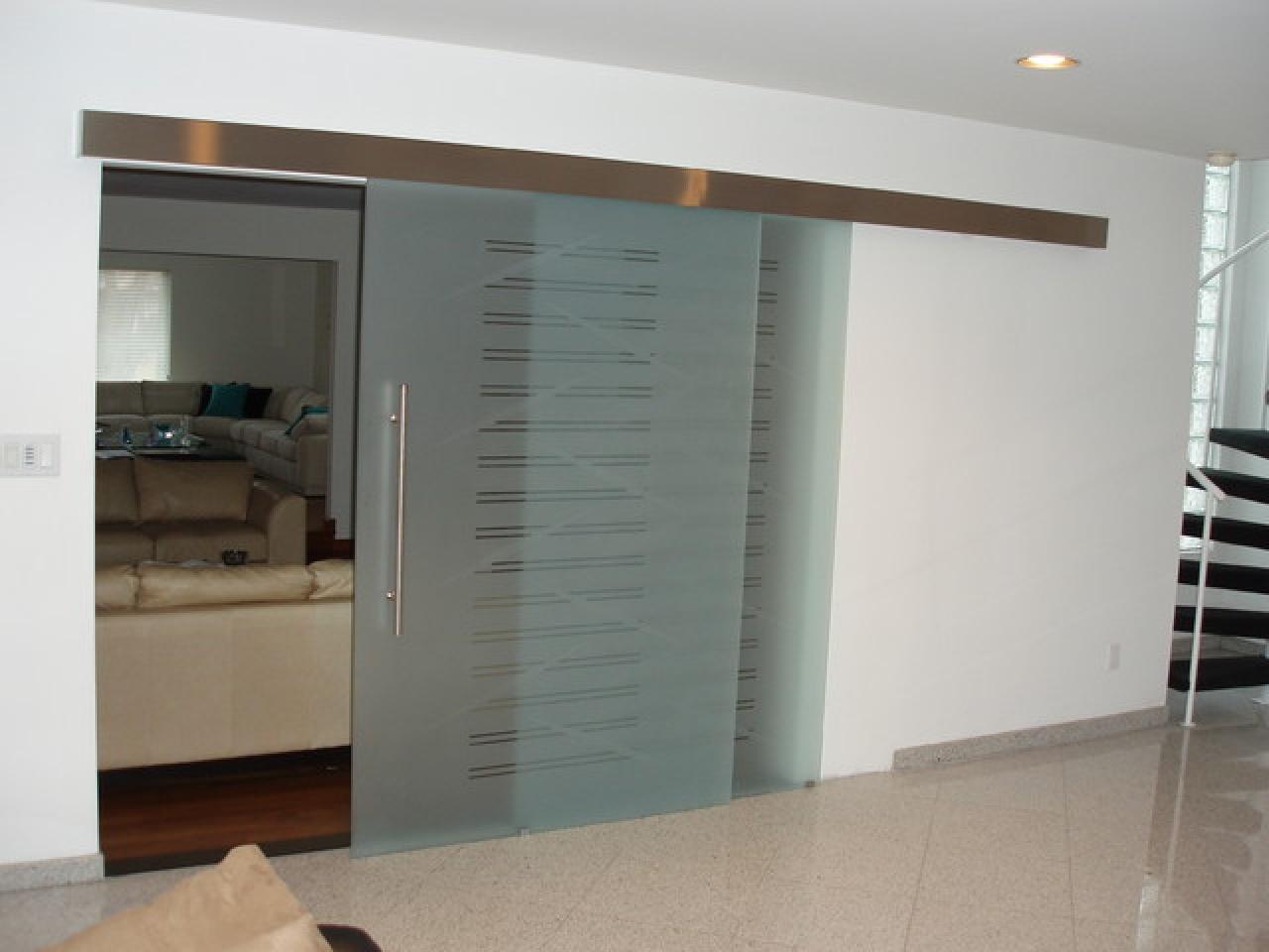 Contemporary Interior Sliding Glass Doors