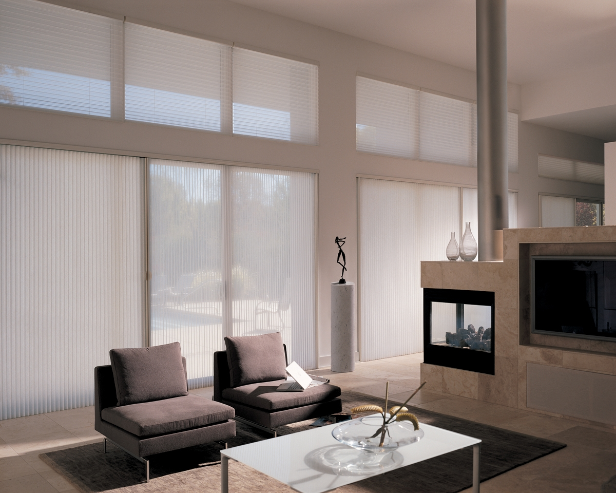 Contemporary Window Coverings Sliding Glass Doors