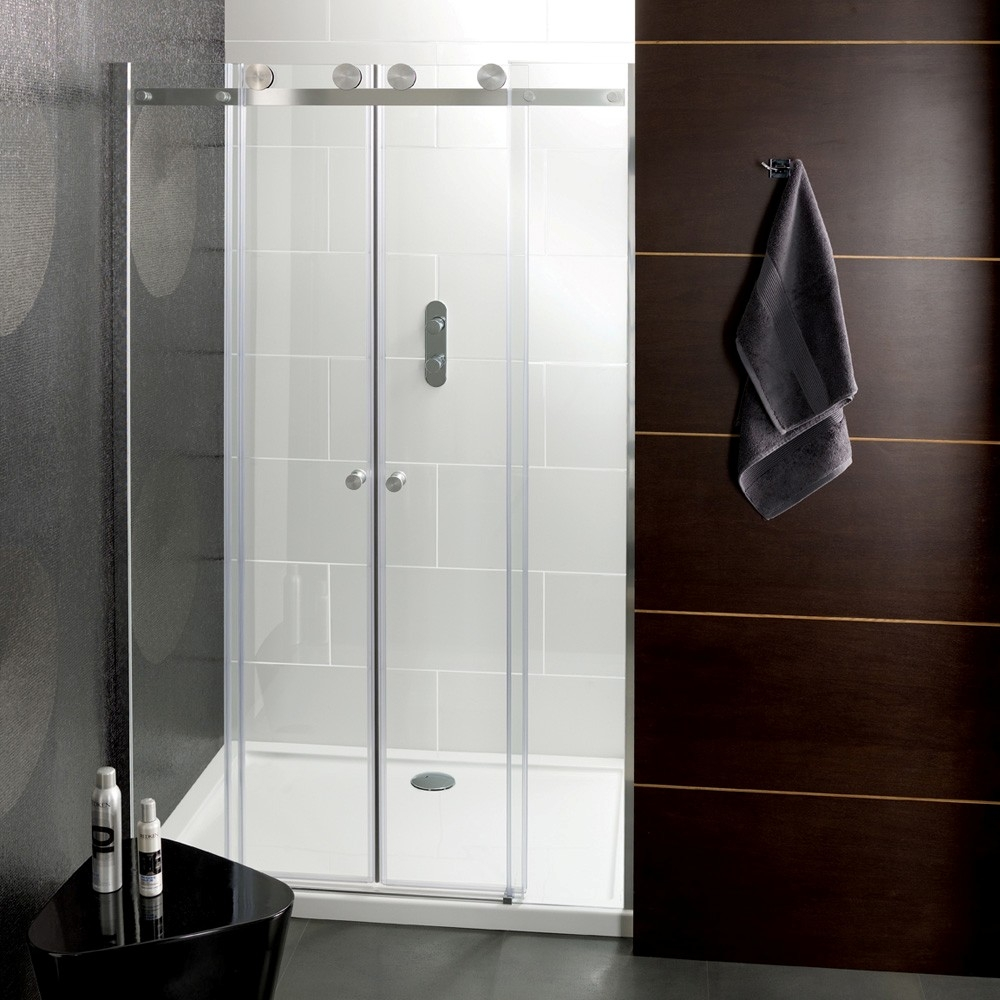 Custom Frameless Sliding Glass Shower DoorsCustom Frameless Sliding Glass Shower Doors