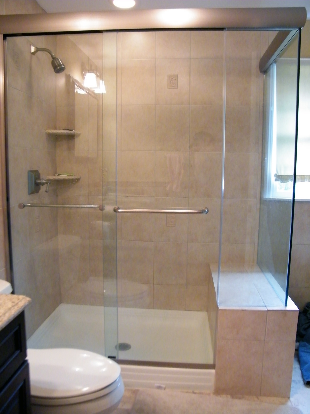 Custom Frameless Sliding Shower DoorsCustom Frameless Sliding Shower Doors