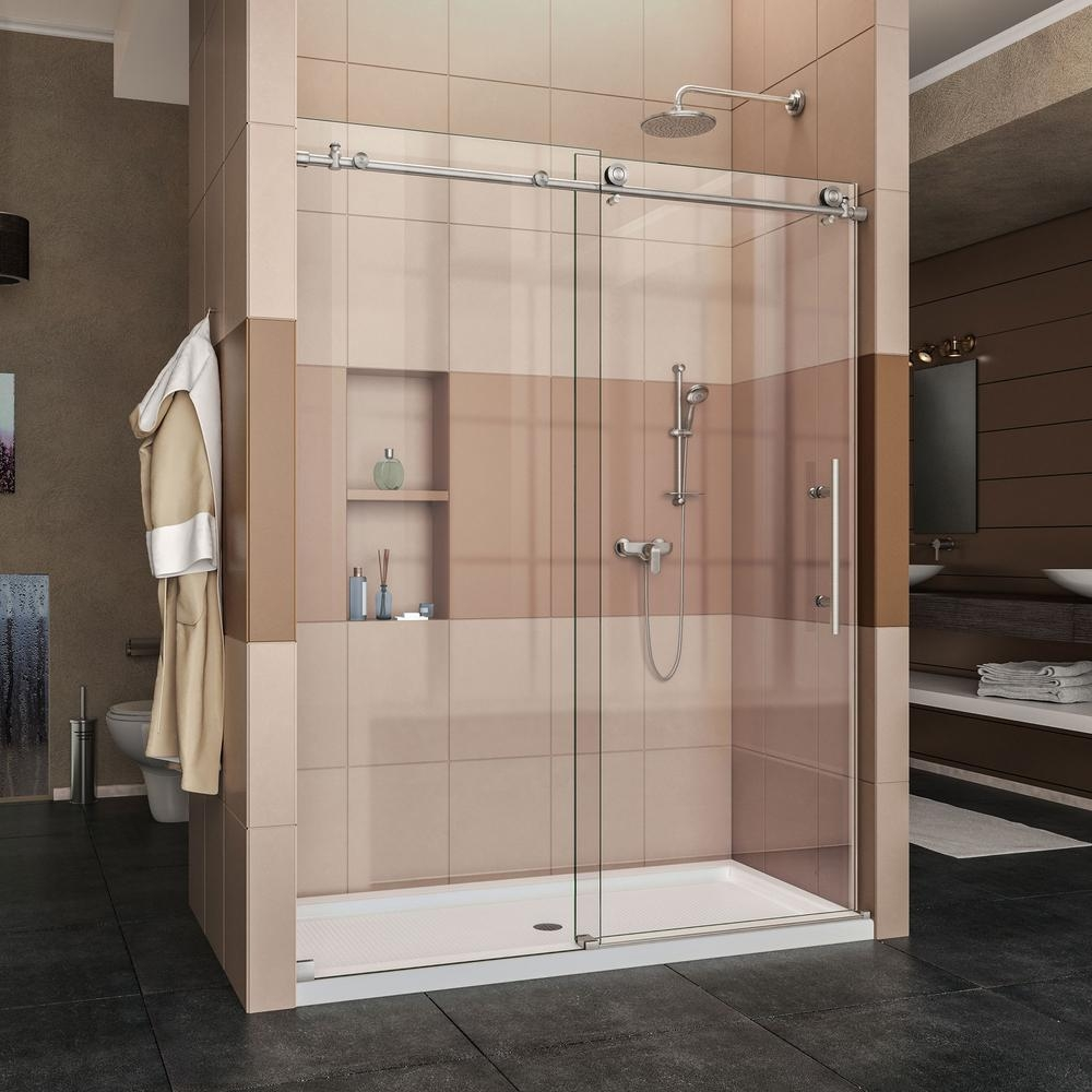 Frameless Sliding Bath Shower Doorsdreamline charisma 56 in to 60 in x 76 in frameless sliding
