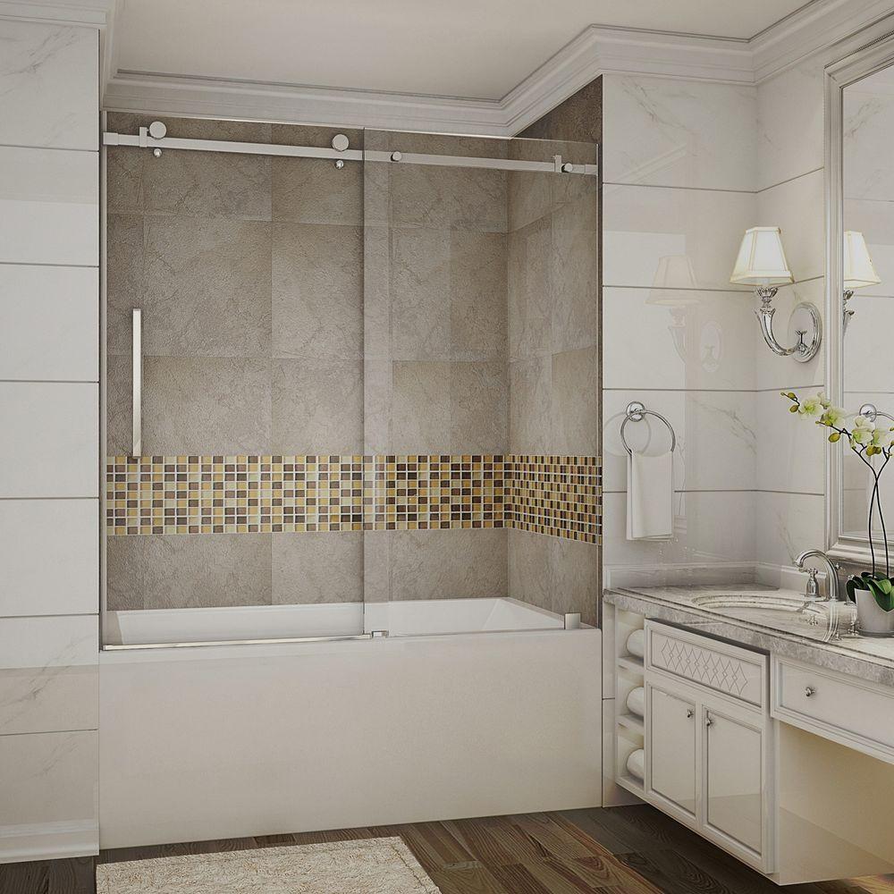 Frameless Sliding Glass Bathtub Doors