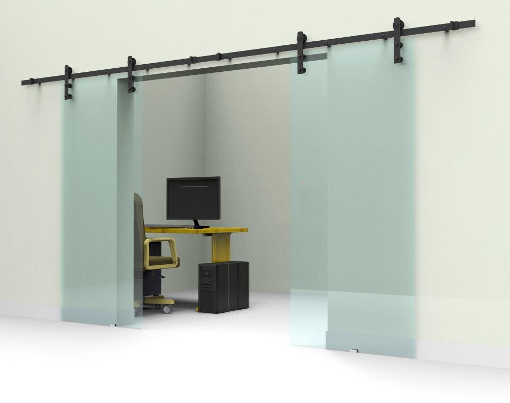 Glass Sliding Door Tracks Systems10ft12ft black rustic double sliding barn glass door sliding