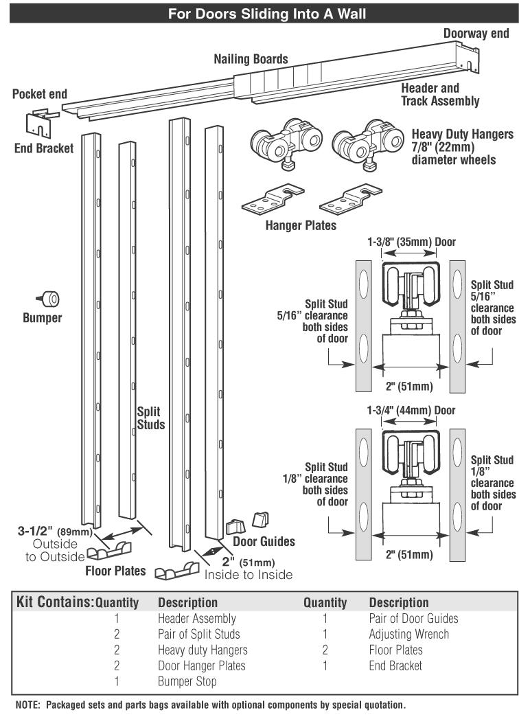 Hager Sliding Pocket Door Hardwaresliding door hardware 9630 hager
