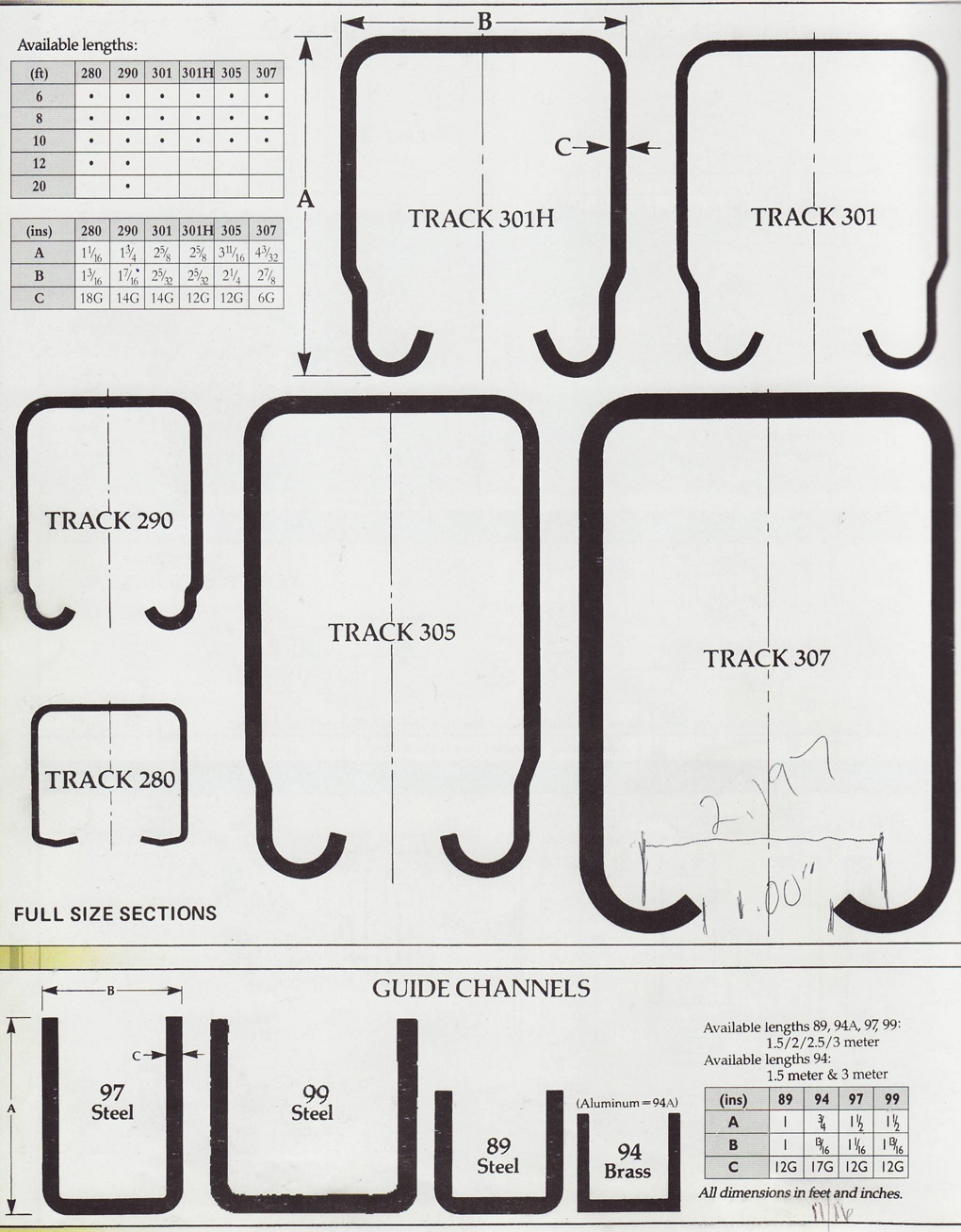 Henderson 290 Sliding Door Track1020 X 1307