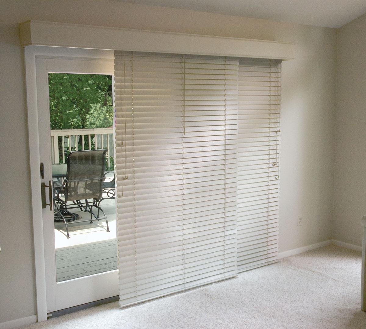 Horizontal Blinds For A Sliding Glass Door1200 X 1077