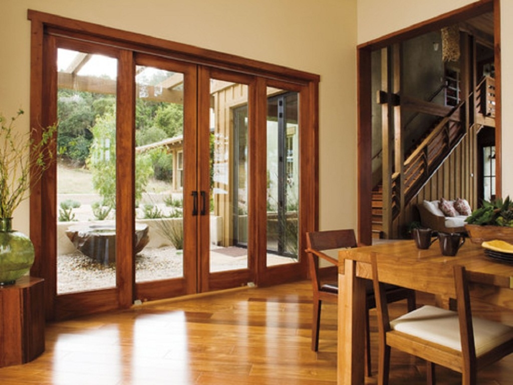 Large Wood Sliding Glass Doors