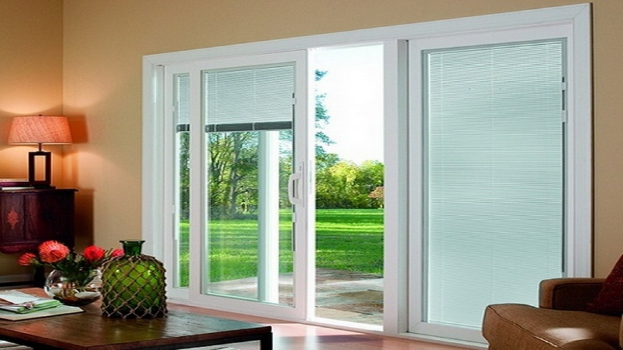 Image of: Modern Blinds For Sliding Glass Doors Sliding Doors