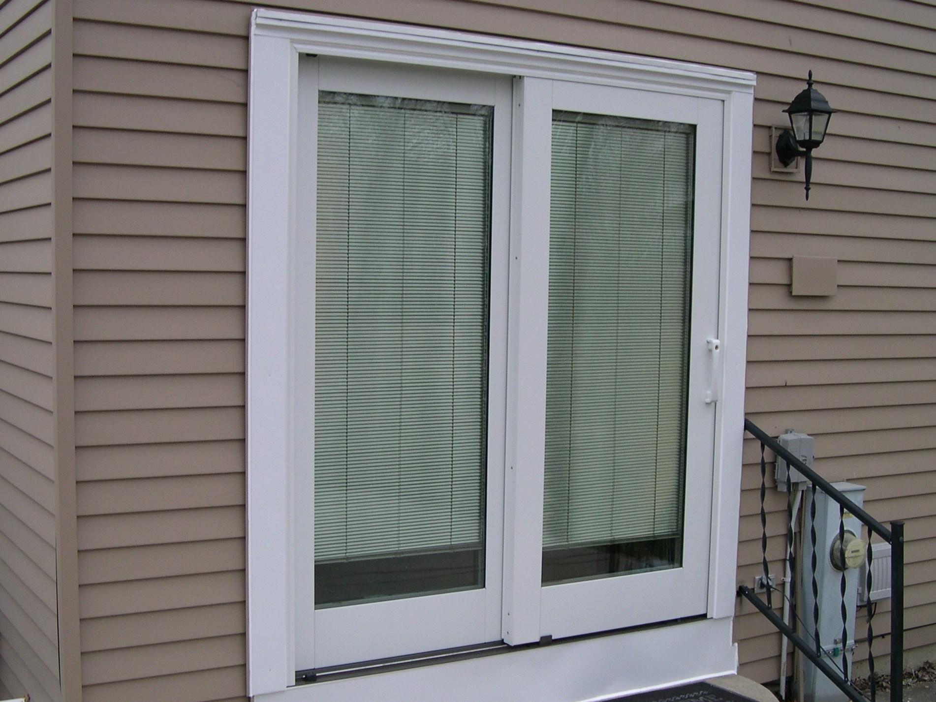 Pella Vinyl Sliding Patio Door With Blindsdoor inspiring back door design ideas with pella sliding doors