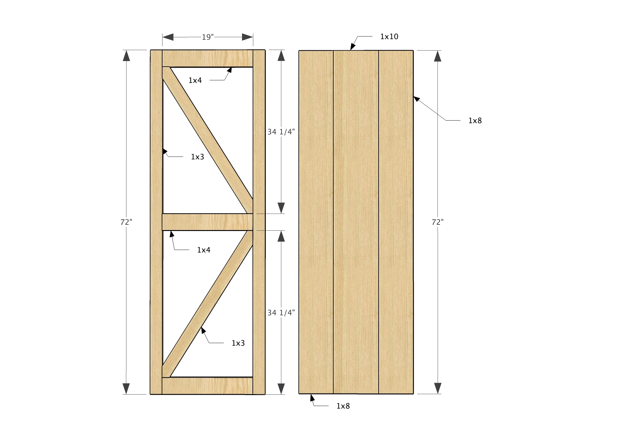 Plans For A Sliding Barn Doorana white sliding door cabinet for tv diy projects