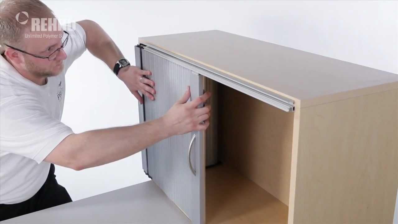 Plastic Sliding Door Tracks Cabinetsinstalling a single horizontal tambour door with spiral track