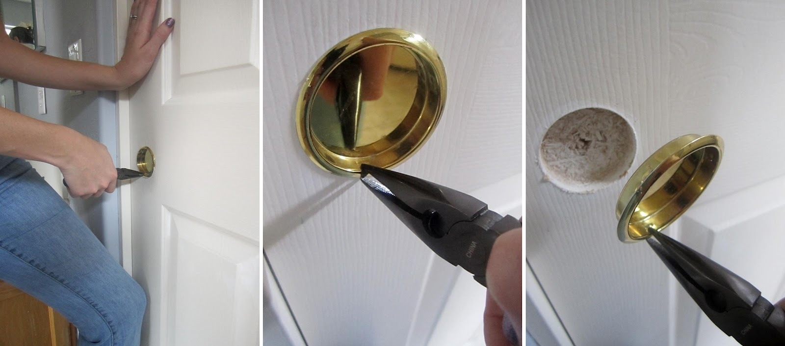 Round Sliding Closet Door Pullsthe creative cub diy door handle upgrade