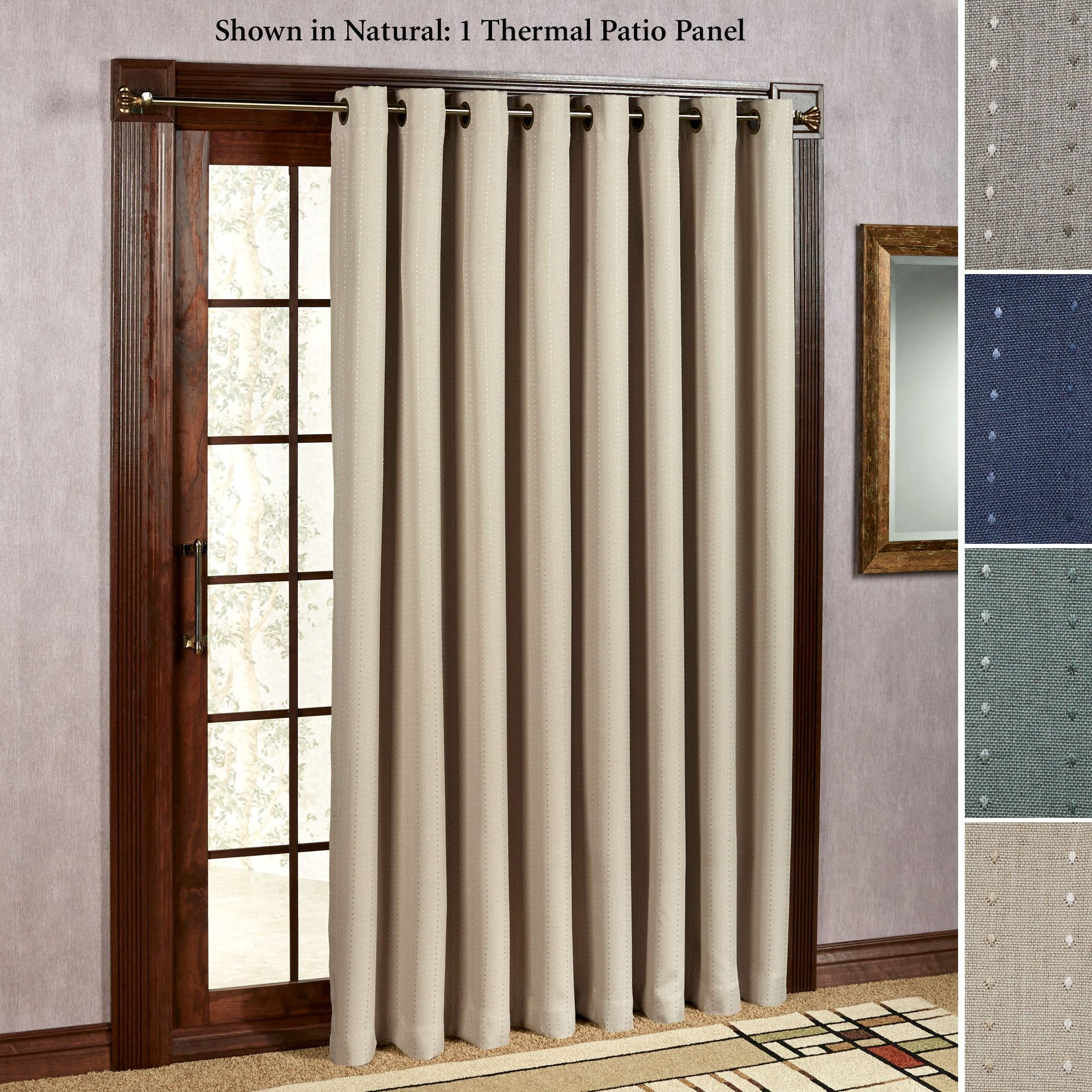 Single Panel Curtain Sliding Glass Door