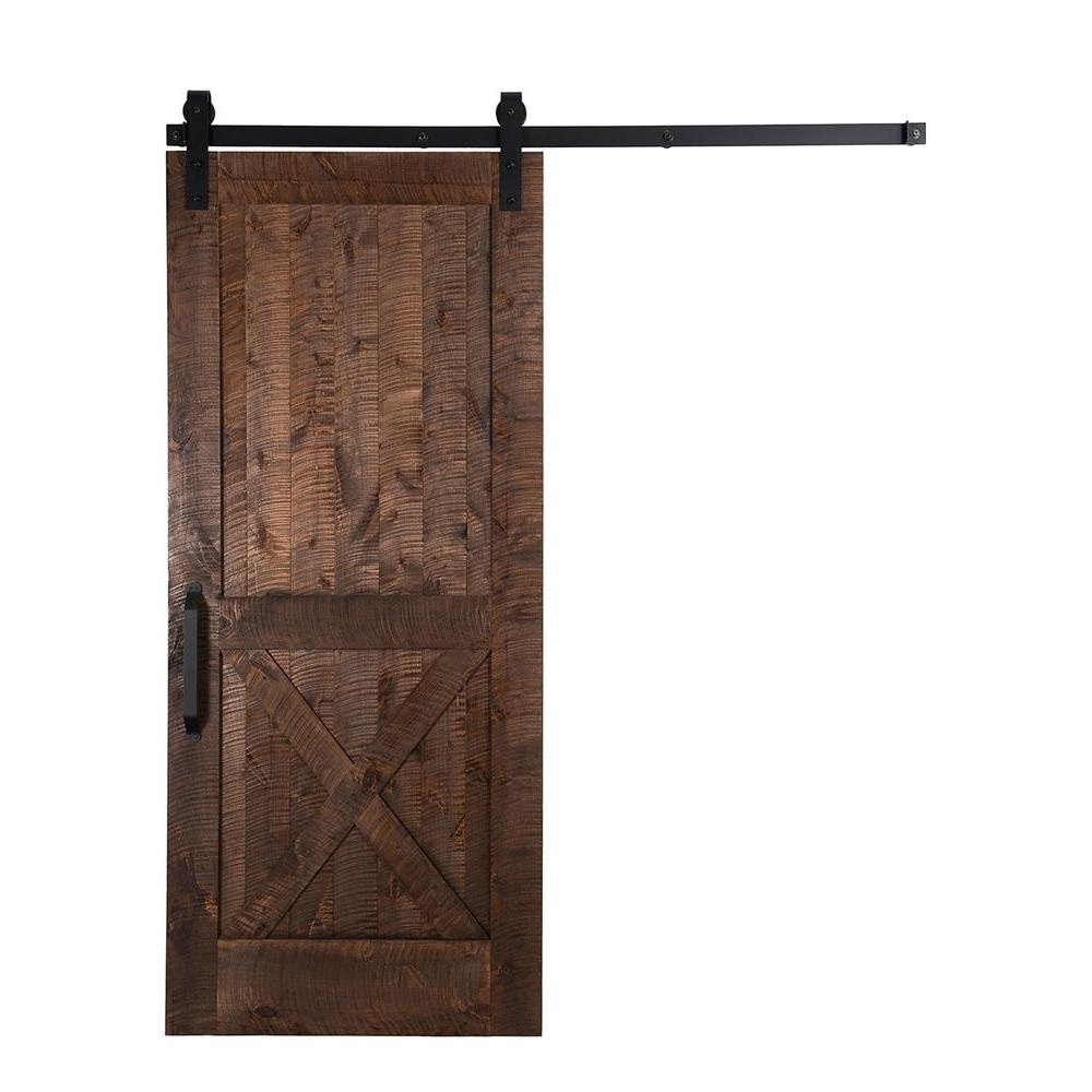 Sliding Barn Door Hardware For Homerustica hardware 42 in x 84 in stain glaze clear rockwell