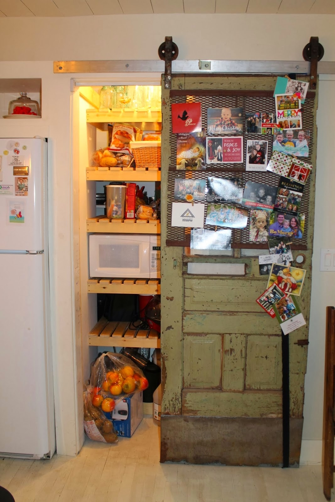 Sliding Barn Door Kitchen Pantryremodelaholic sliding barn door pantry makeover with wood slat