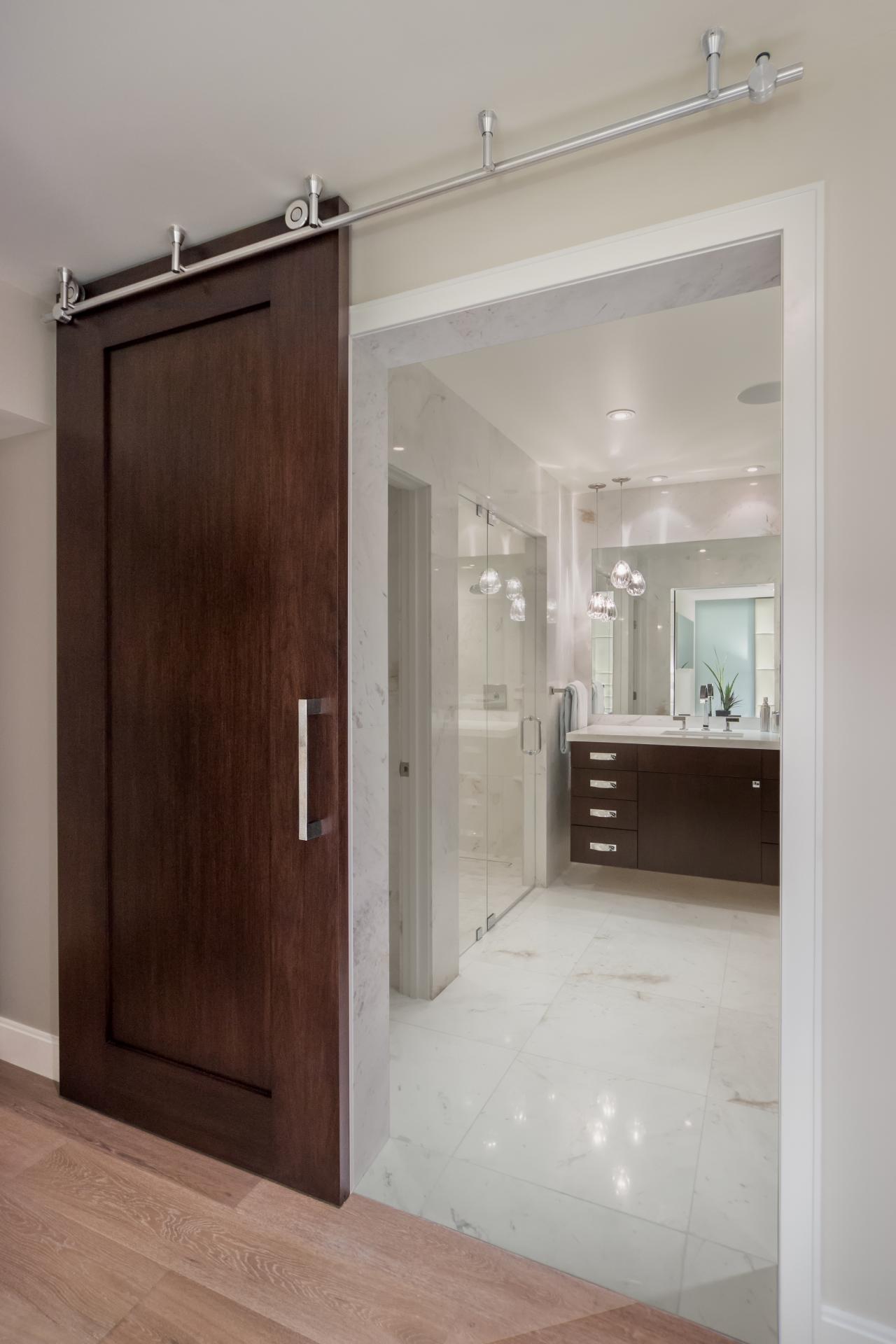 Sliding Barn Style Door Bathroom Pic