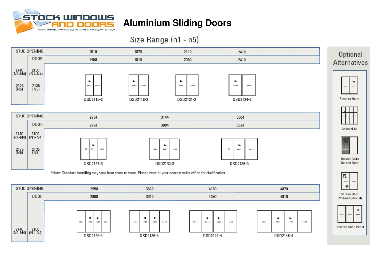Standard Size Aluminium Sliding Doorsstandard sliding glass door size australia 28 images