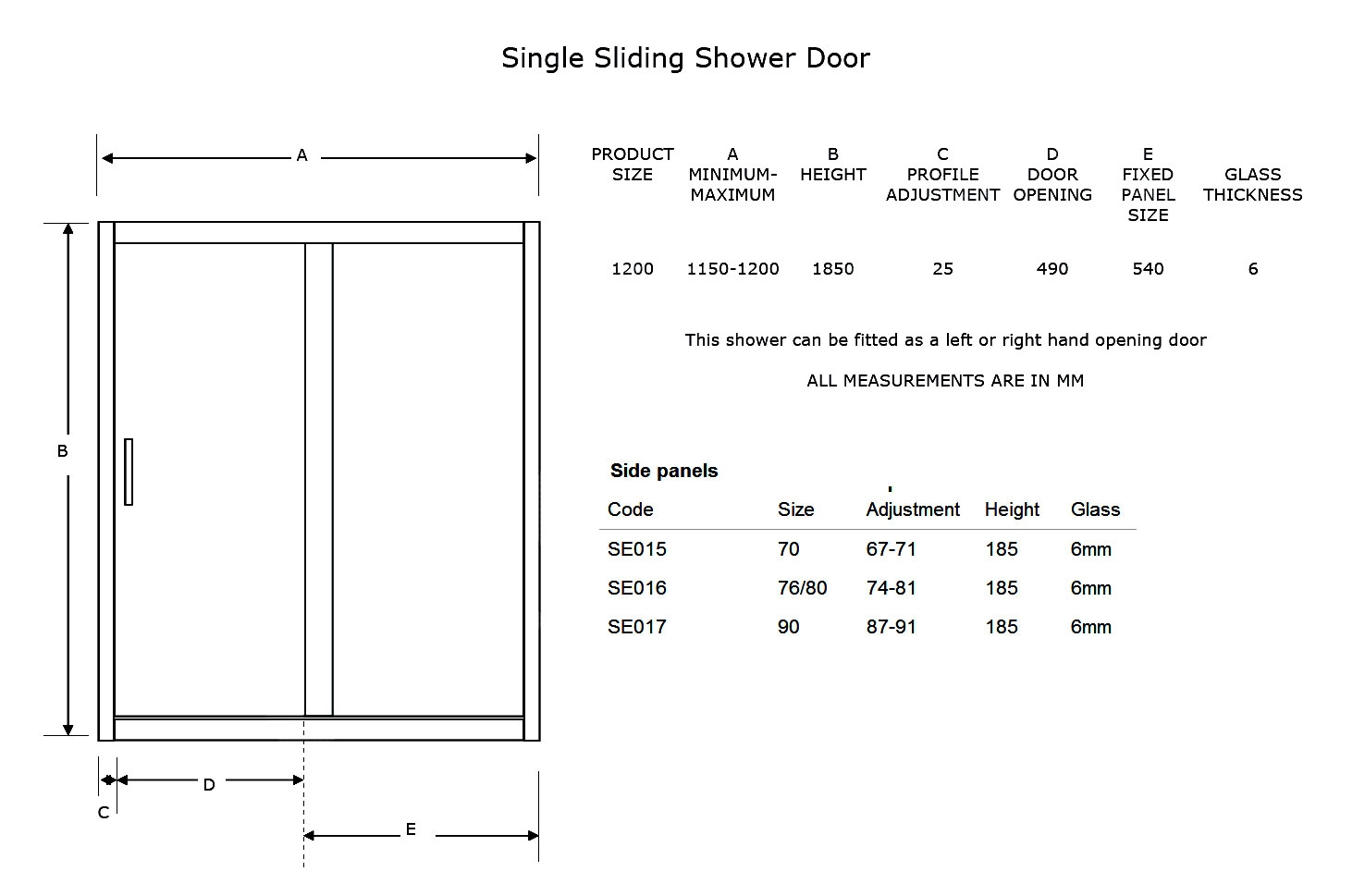 Typical Size Of Sliding Glass Door