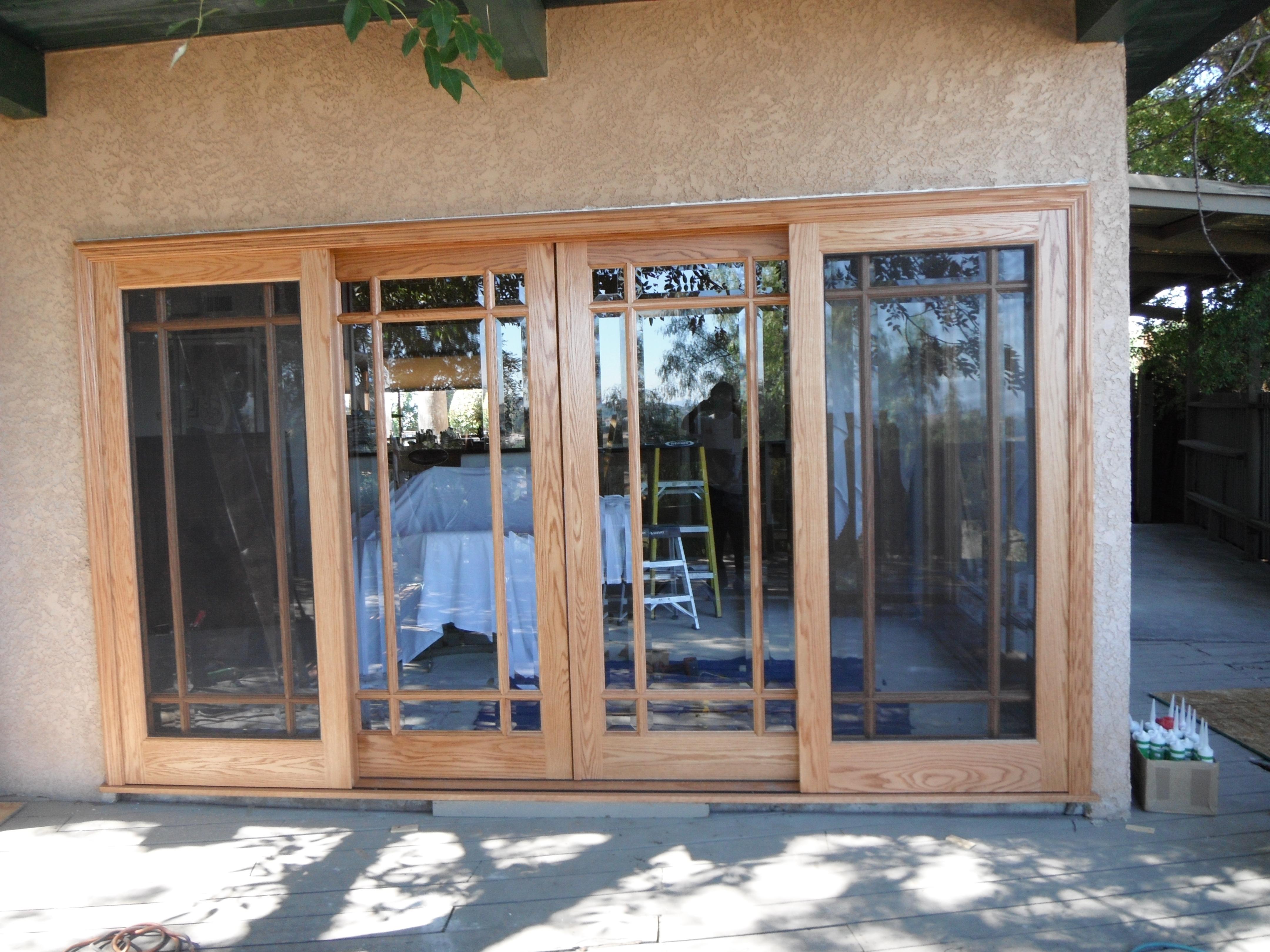 Wood Sliding Patio Doors Design