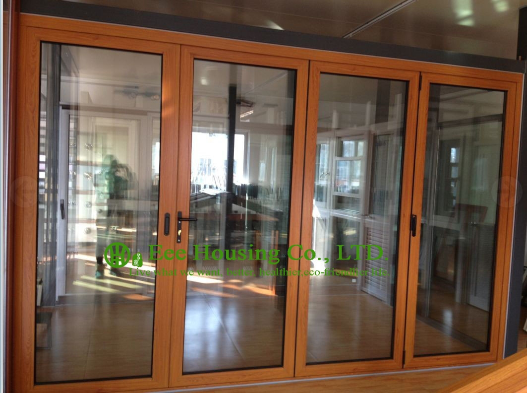 Wooden Frame Sliding Glass Doors