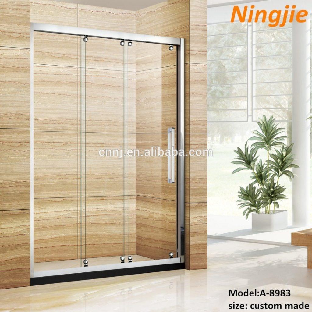 3 Panel Sliding Shower Door With Mirror