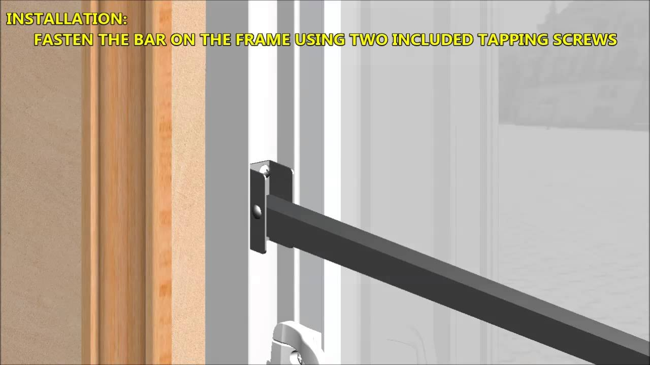 Aluminum Security Bar For Sliding Glass Doorsold version 3d demo and installation instructions for the ideal
