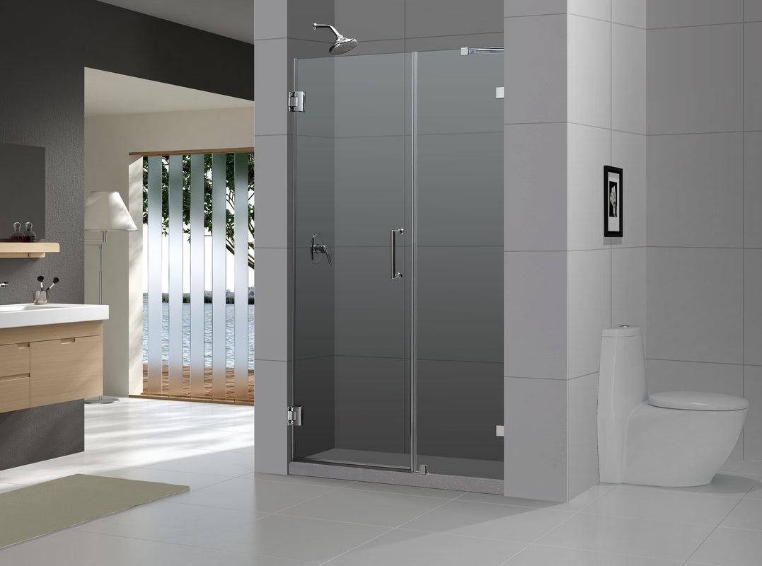 Aqua Glass Semi Frameless Sliding Shower Door1077 X 800