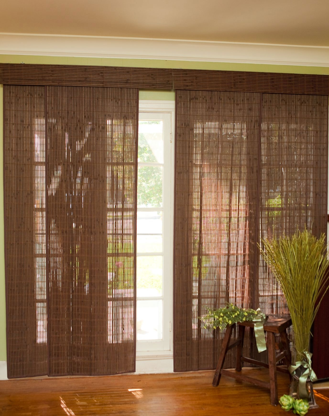 Bamboo Vertical Blinds For Sliding Doors