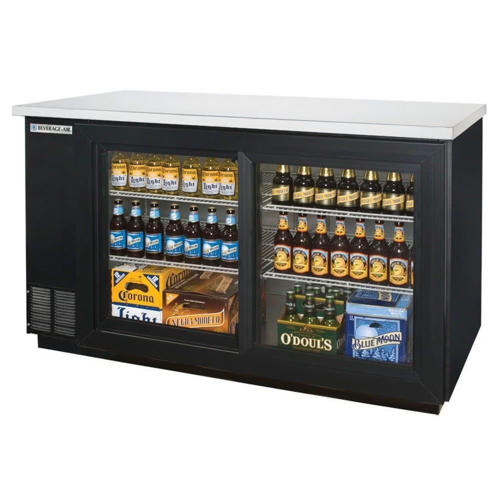 Beverage Air Sliding Door Coolerbeverage air bb58gsf 1 b led 58 black food rated sliding glass