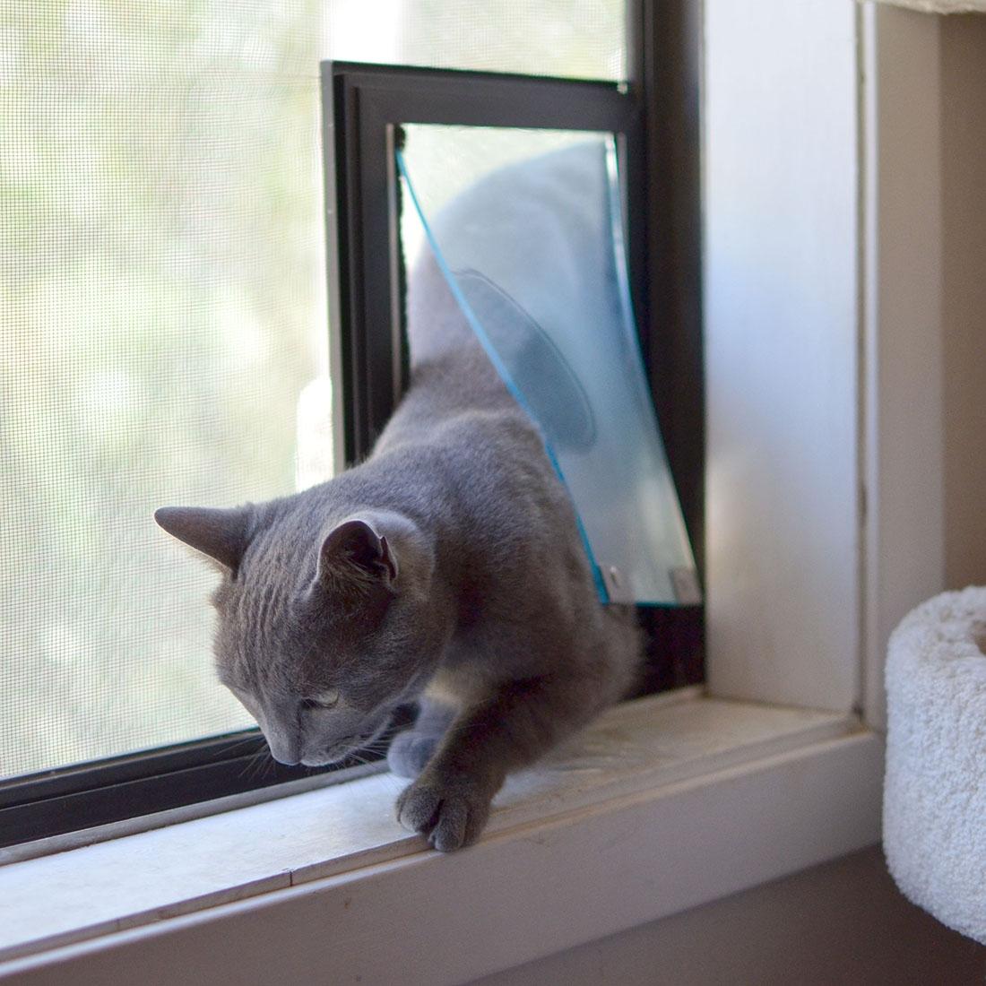 Cat Door For Side Sliding Window1100 X 1100